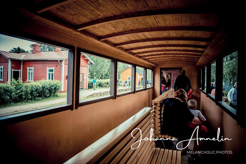 Jokioisten museorautatien höyryjuna-ajelu