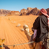 Camel ride through the Wadi Rum