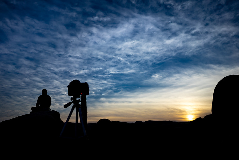 Lone Camera Sunset