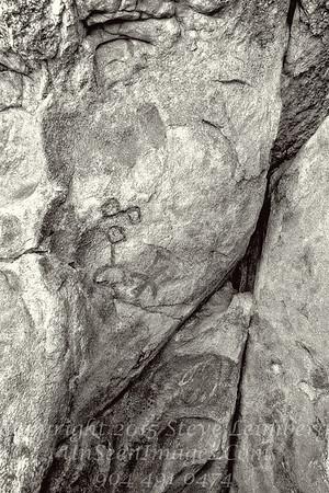 Petroglyphs - B&W Copyright 2016 Steve Leimberg - UnSeenImages Com L1100598