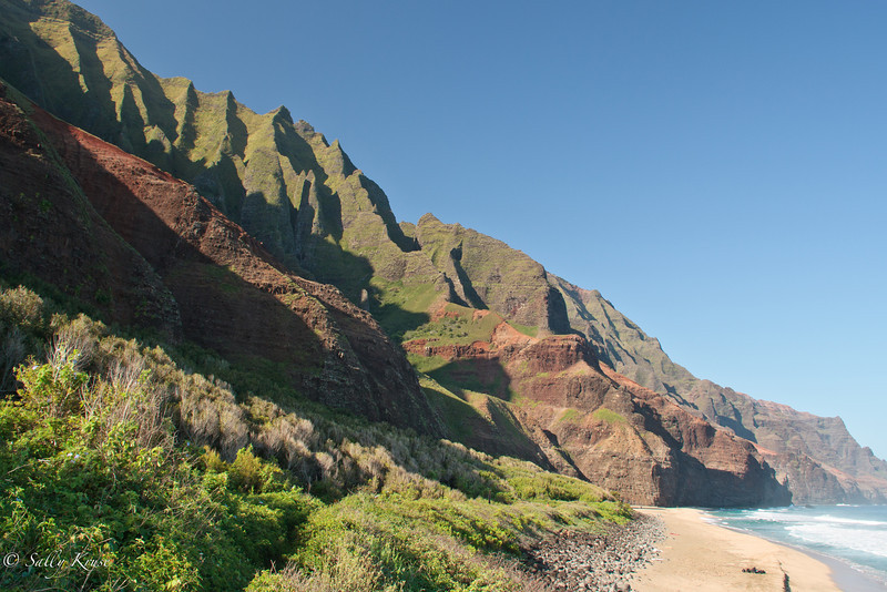 Kalalau Trail, Na Pali coast, Kauai, Hawaii