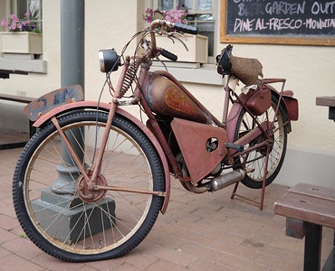 "A famous ""JAMES"" motorcycle,"