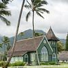 The Wai'oli Hui'ia Church in Hanalei, Kauai, Hawaii.