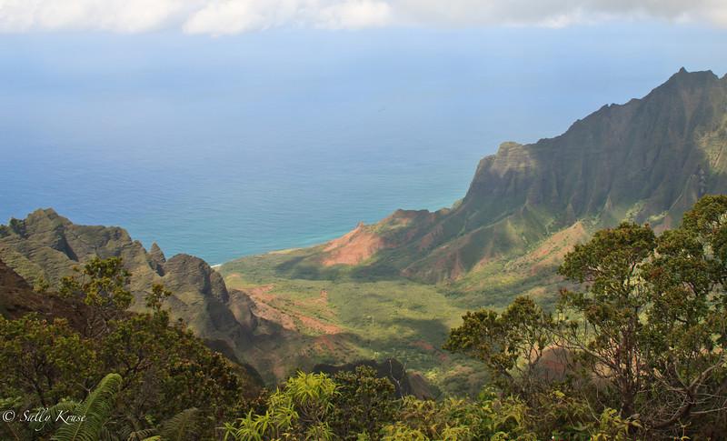 Overlook of the Na Pali coast, Kauai, Hawaii