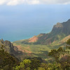 Overlook of the Na Pali coast, Kauai, Hawaii