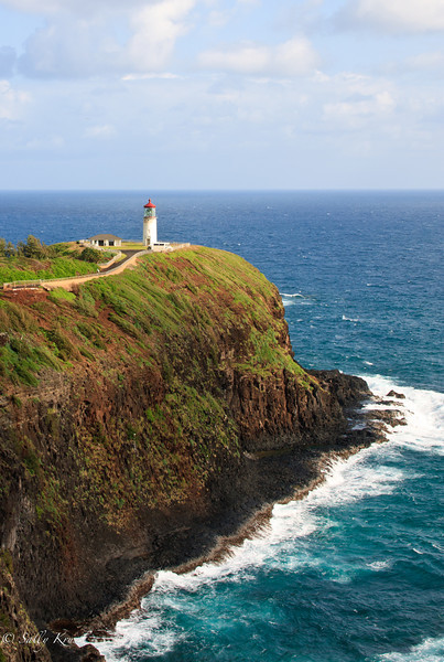 Kilauea Lighthouse on the northshore of Kauai, Hawaii.