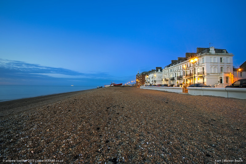 Blue hour at Walmer beach in Kent