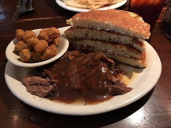 Pot roast at The Whistle Stop
