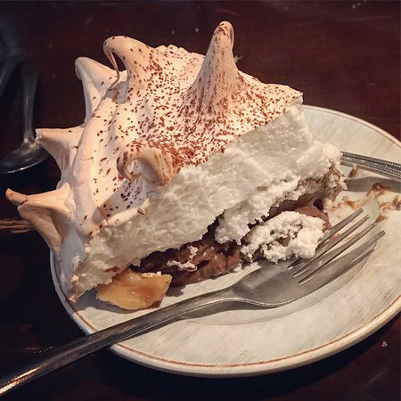 Chocolate cream pie at The Whistle Stop