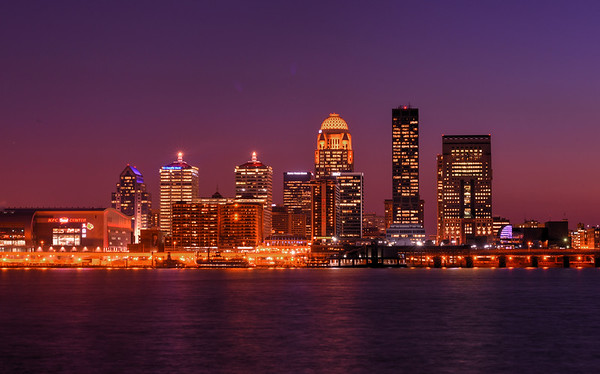Louisville Kentucky at dusk