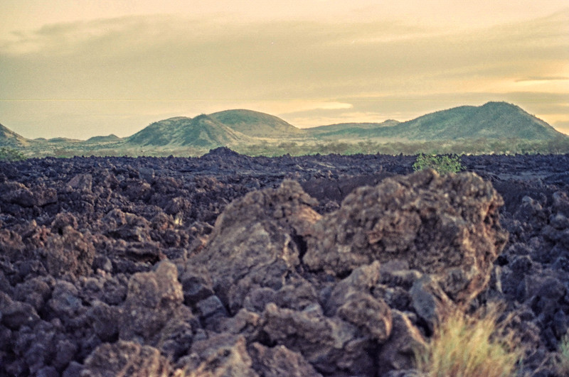 Lava at the Chyulu Hills