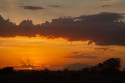 Sunset, Masai Mara, Kenya 9 October 2011