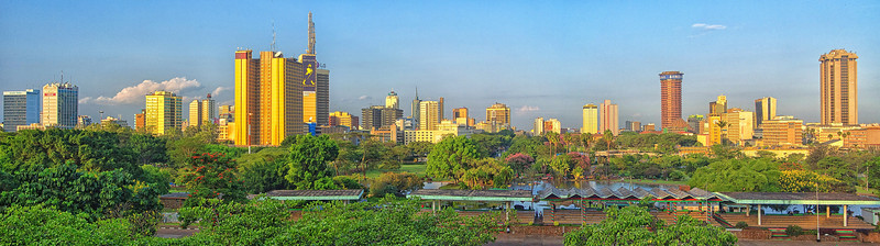 Nairobi City Center viewed from above Uhuru park