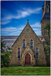 Church of the Holy Spirit on the Kenyon College campus in Gambier, Ohio.