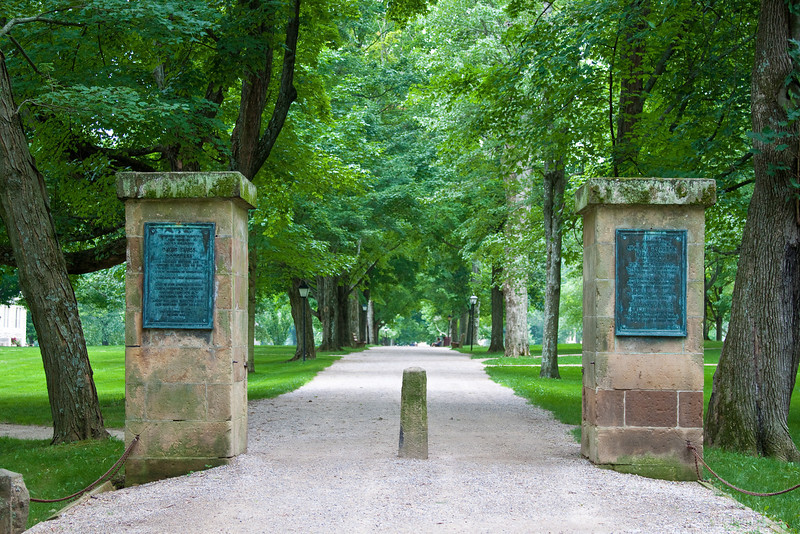 The Middle Path at Kenyon College.