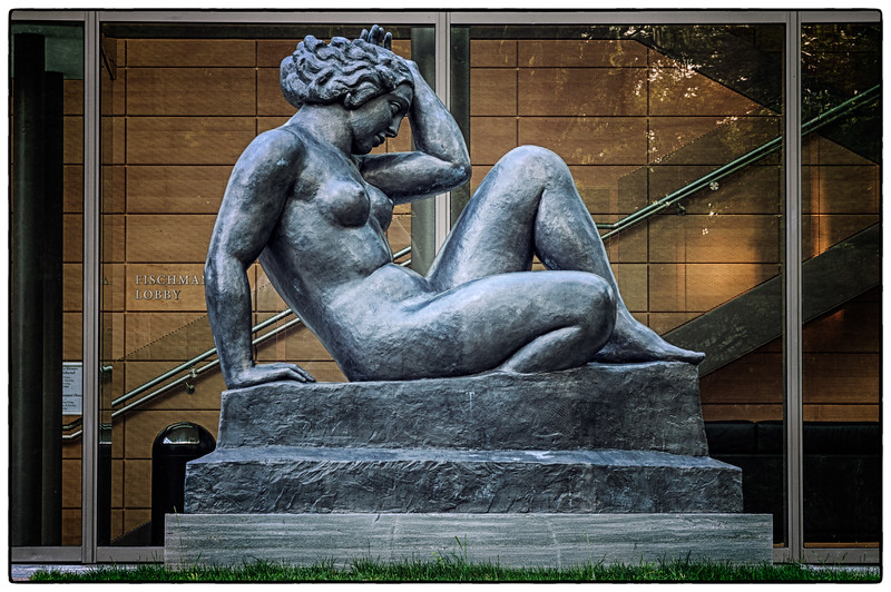 Statue in front of the Gund Gallery on the Kenyon College campus in Gambier, Ohio on May 27, 2012.