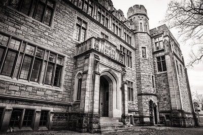 Built in 1926 on campus of Kenyon College in Gambier, Ohio, Samuel Mather Science Hall was a gift of Henry G. Dalton, and was considered at its dedication the finest labratory in the nation for an undergraduate college. Photographed by Joe Frazee on December 26, 2015.