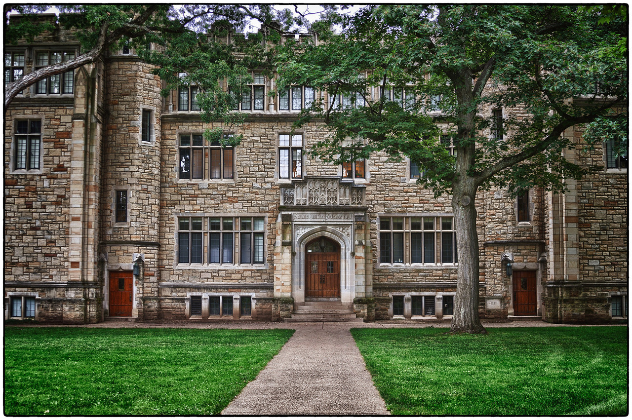 Samuel Mather Hall on the Kenyon College campus in Gambier, Ohio.