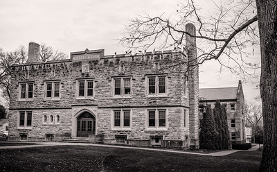 Ransom Hall on campus of Kenyon College. Photographed on December 25, 2015 by Joe Frazee.