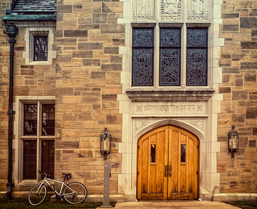 Peirce Hall on campus of Kenyon College in Gambier, Ohio. Photographed on December 25, 2015 by Joe Frazee.