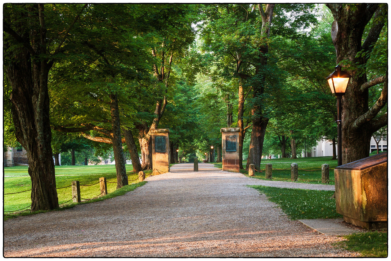 The Middle Path on Kenyon College campus in Gambier, Ohio on May 27, 2012.
