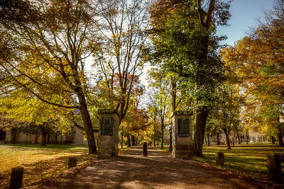 The Middle Path on the Kenyon College campus in Gambier, Ohio. Photographed on October 20, 2013.