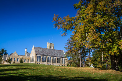 Dempsey Hall and Peirce Hall on Kenyon College campus in Gambier, Ohio. Photographed on October 12, 2013.