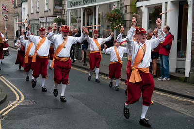 Morris dancers in Kirkby Lonsdale for the Food Festival
