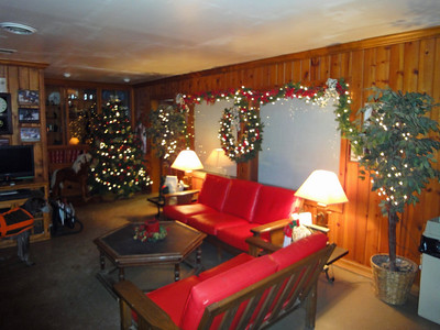 The arena lounge at Christmas, 2010.