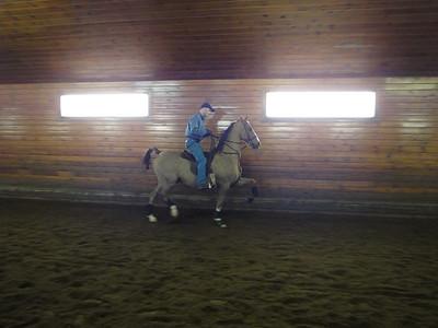 Eric training show horses.