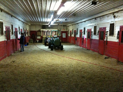 Some of the school horse box stalls at Knollwood Farm.