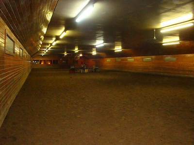 The indoor riding arena at Knollwood Farm.