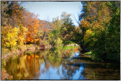 View of Kokosing River from bridge on Pipesville Road east of Howard, Ohio.
