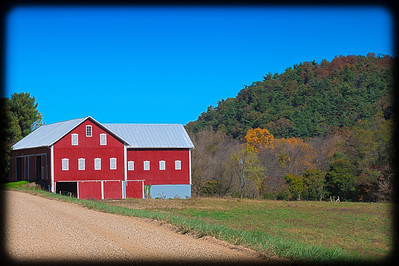 A view of a barn along Wally Road in Knox County, Ohio.