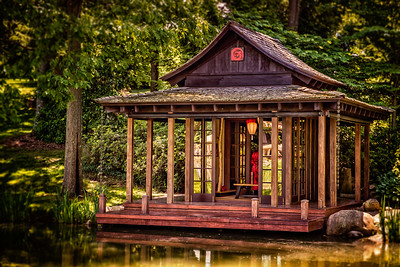 Japanese Teahouse at Schnormeier Gardens photographed at the Schnormeier Gardens on Laymon Road, west of Gambier, Ohio on June 4, 2015. Photographed by Joe Frazee.