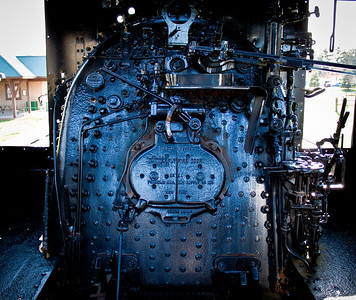 The boiler on locomotive in Gambier, Ohio.
