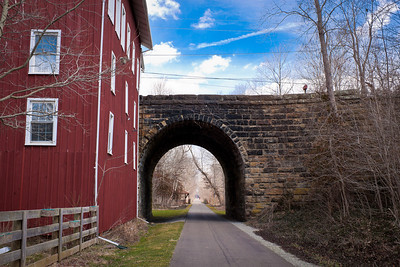 The Howard tunnel on the Kokosing Gap Trail.