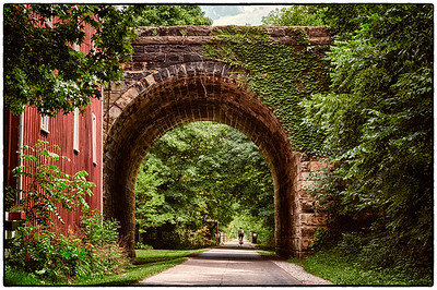 The Howard train tunnel on the Kokosing Gap Trail in Howard, Ohio. Shot on July 13, 2012.