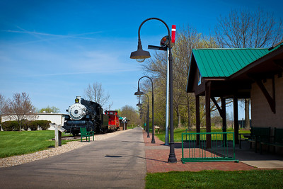Train and Train Station at Kokosing Gap Trail in Gambier, Ohio.