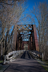 One of the old railroad trestle bridges along the Kokosing Gap Trail in Gambier, Ohio.