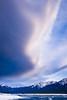 Cloud front over Abraham Lake, Alberta