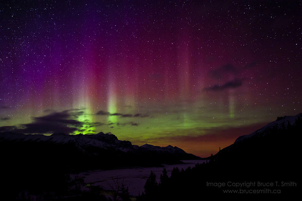 Amazing Aurora Borealis in the Rocky Mountains<br /> <br /> For more Aurora Borealis images, see my gallery under Nature/Landscapes.
