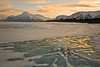 Abraham Lake Icy Sunset