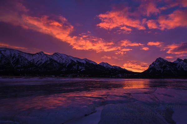 Blazing Icy Sunrise