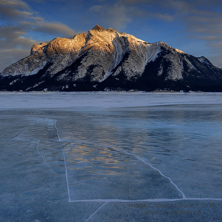 Sunset ice reflections