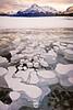 Frozen bubbles on Abraham Lake