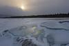 Moody Sunrise over Abraham Lake