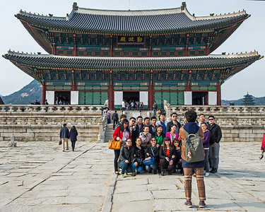 Gyeongbokgung Palace, Seoul, Korea.  Originally built in 1395 and then rebuilt in 1867.