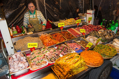 Namdaemun market street food.  Seoul, Korea.