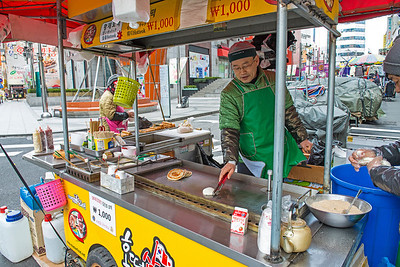 Bean and Brown sugar pancake, Namdaemun Market, Seoul, South Korea